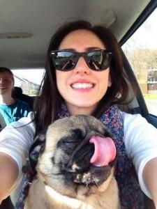 Jen and pug